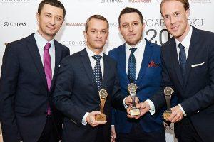 from left: Tomasz Kiełtyka, Andreas Haude (Lange & Söhne General Manager Northern Europe), Łukasz Doskocz, Clemens Von Walzel (Lange & Söhne Senior PR Manager)