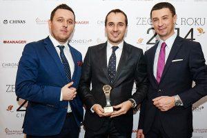 from left: Łukasz Doskocz, Deanis Chauve (Sales Manager Europe Richard Mille), Tomasz Kiełtyka