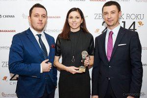 from left: Łukasz Doskocz, Marzena Żegota (Brand Manager Swatch), Tomasz Kiełtyka