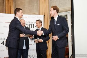 from left: Tomasz Kiełtyka, Rafał Jemielita, Andreas Haude (Lange & Söhne General Manager Northern Europe), Clemens Von Walzel (Lange & Söhne Senior PR Manager)