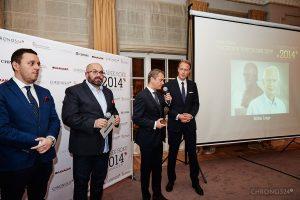 from left: Łukasz Doskocz, Rafał Jemielita, Andreas Haude (Lange & Söhne General Manager Northern Europe), Clemens Von Walzel (Lange & Söhne Senior PR Manager)