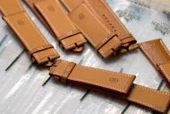 Leather watch straps production at Hermes