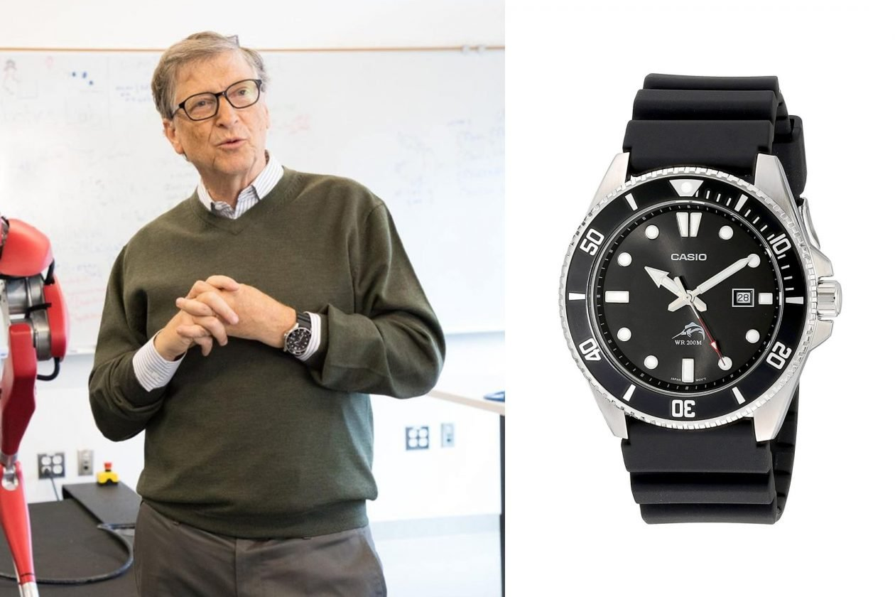 Bill Gates and Casio / photo: whatkindofwatch.com