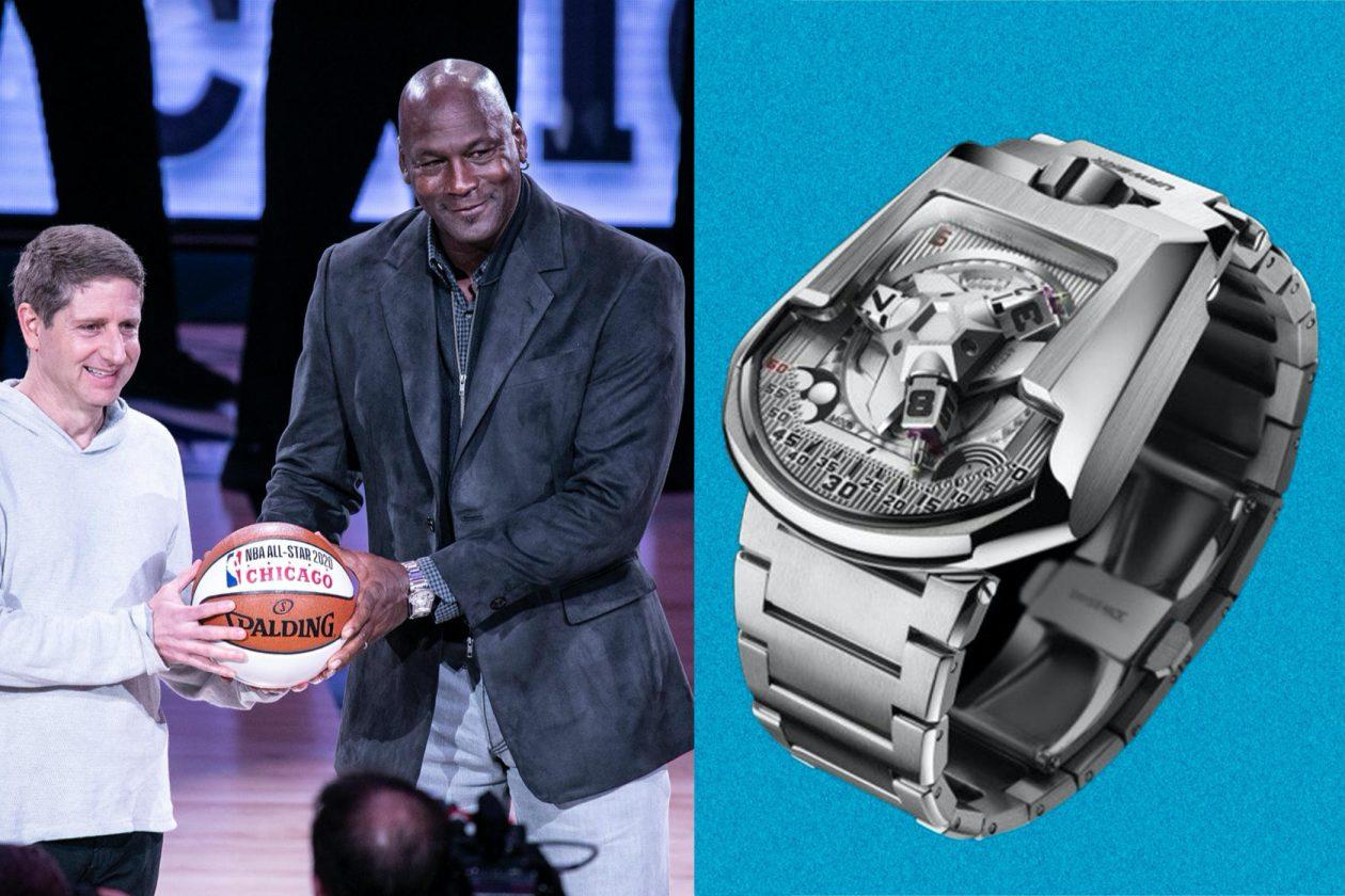 Michael Jordan & Urwerk UR-202S / foto: Michael Jordan & Urwerk UR-202S / foto: Jeff Hahne, Getty Images