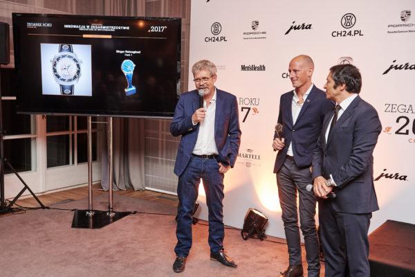 Zegarek Roku 2017 - (od lewej) Jean-Marc Wiederrecht (Agenhor), Marco Borraccion (Singer), Miguel Seabara