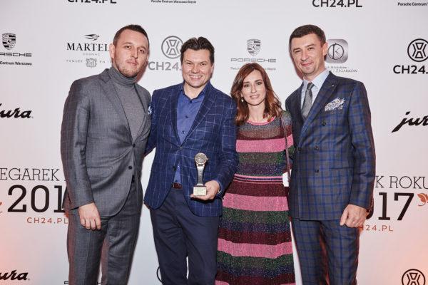 Łukasz Doskocz, Leszek Pilch (Longines), Katarzyna Sosińska (Longines), Tomasz Kiełtyka