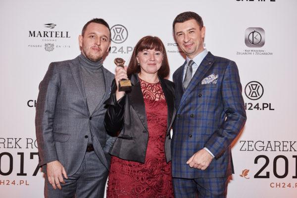 Łukasz Doskocz, Nathalie Le Reun (Jaeger-LeCoultre), Tomasz Kiełtyka